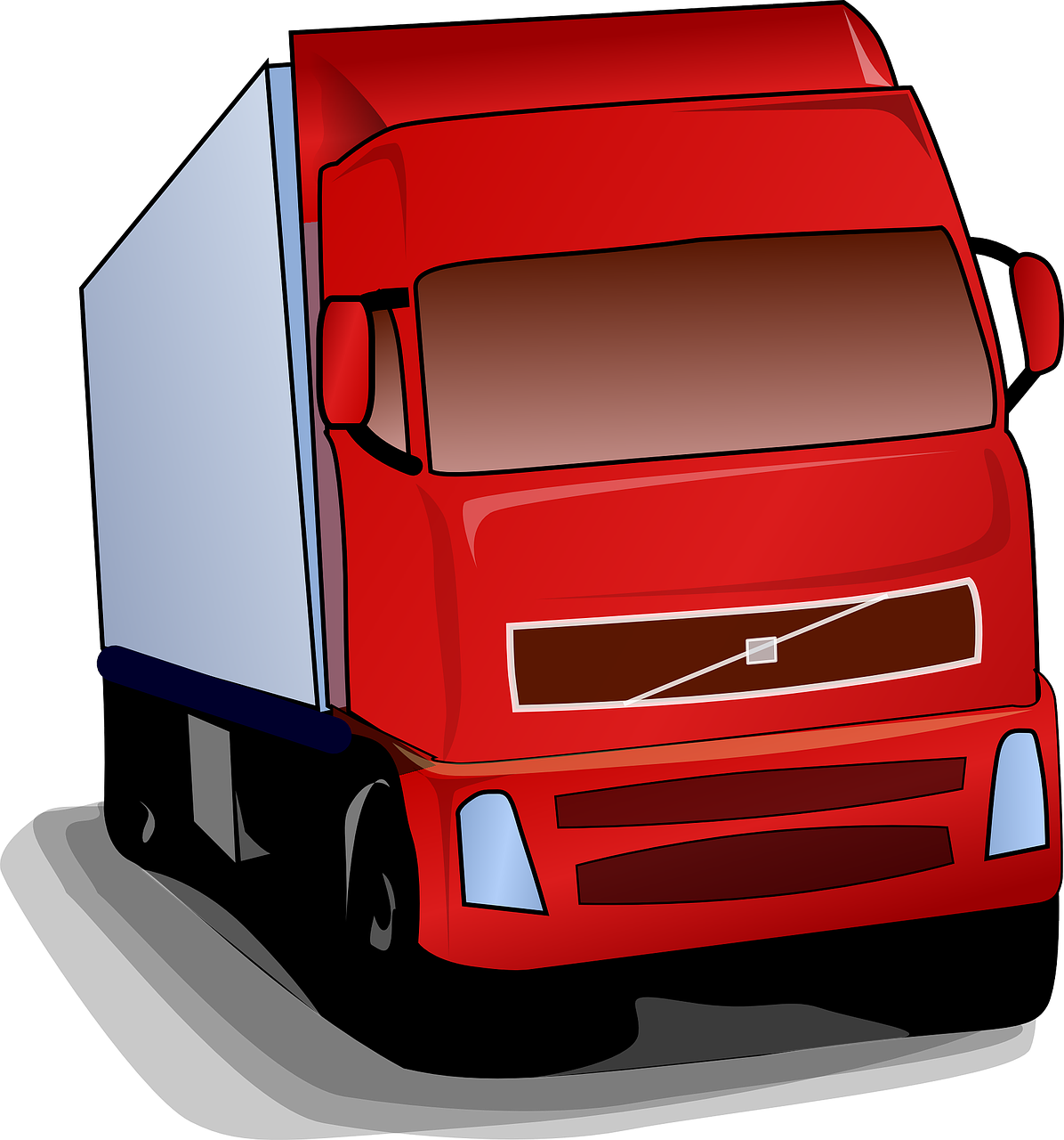 camion de livraison de marchandises